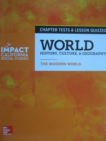 World History Culture & Geography The Modern World Tests (CA)(P)