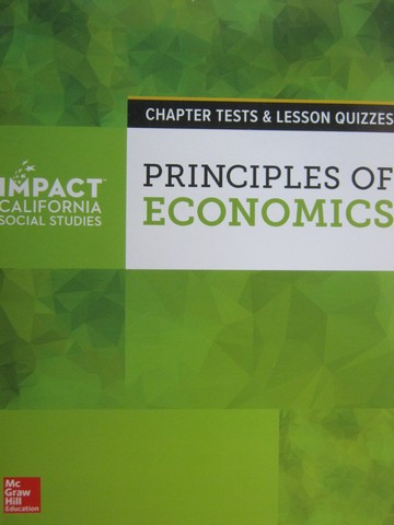 Principles of Economics Chapter Tests & Lesson Quizzes (CA)(P)