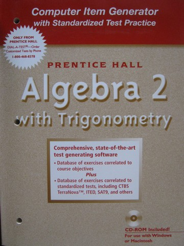 Algebra 2 with Trigonometry Computer Item Generator (P)