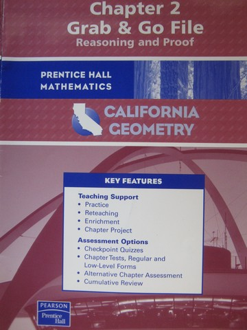 California Geometry Chapter 2 Grab & Go File (CA)(P)