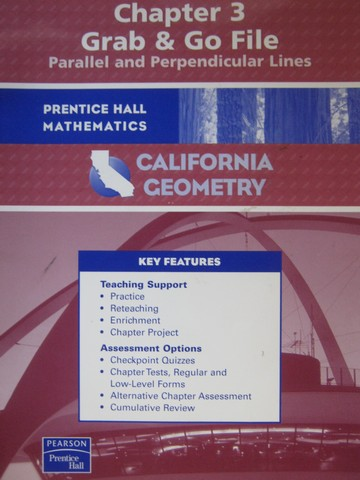 California Geometry Chapter 3 Grab & Go File (CA)(P)