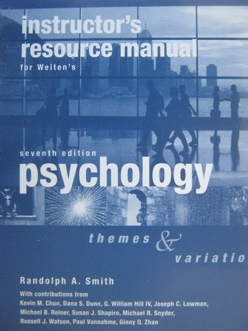 Psychology Themes & Variations 7th Edition IRM (TE)(Binder)
