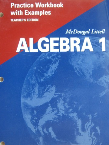 Algebra 1 Practice Workbook with Examples TE (TE)(P)