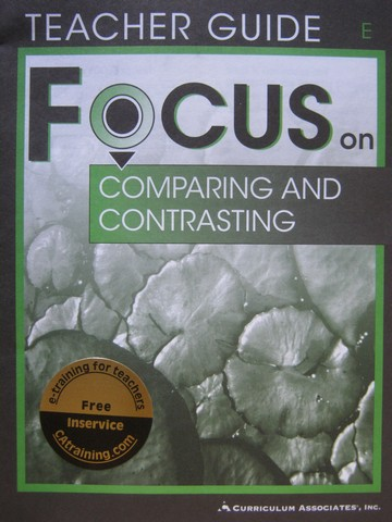 Focus on Comparing & Contrasting E TG (TE)(P) by Jo Pitkin