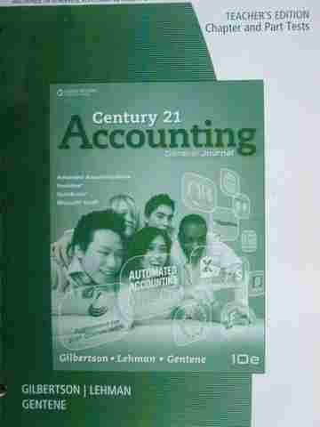 Century 21 Accounting 10th Edition Chapter & Part Tests TE (P)