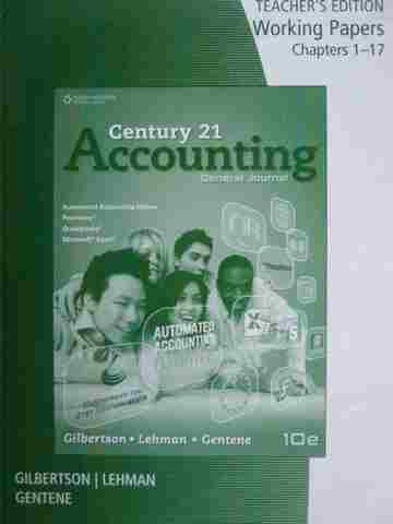 Century 21 Accounting 10th Edition Working Papers 1-17 TE (P)