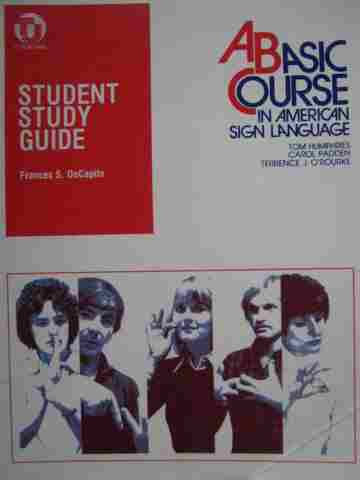 A Basic Course in American Sign Language Study Guide (Spiral)