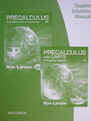 Precalculus with Limits A Graphing Approach 7th Edition SSM (P)