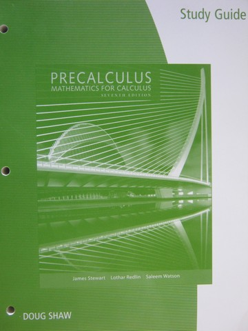 Precalculus Mathematics for Calculus 7th Edition SG (P)