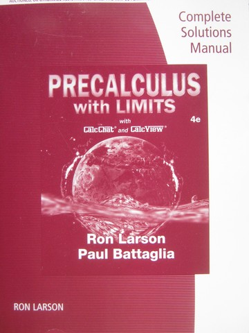 Precalculus with Limits 4th Edition Complete Solutions (P)