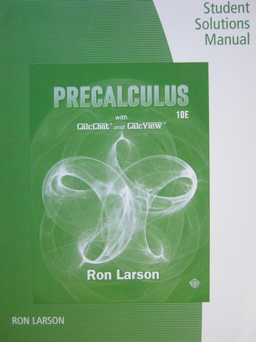 Precalculus 10th Edition Student Solutions Manual (H) by Larson