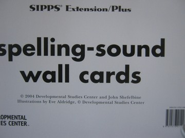 SIPPS Extensions/Plus Spelling-Sound Wall Cards (Pk)