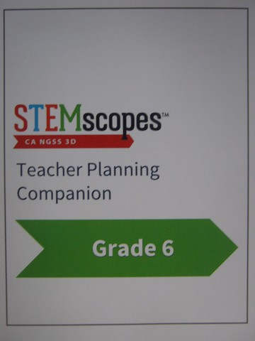 STEMscopes 6 Teacher Planning Companion (CA)(TE)(Spiral)
