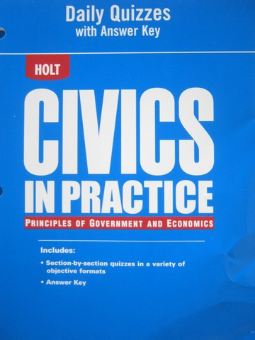 Civics in Practice Daily Quizzes with Answer Key (P)