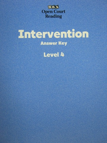 SRA Open Court Reading 4 Intervention Answer Key (P)