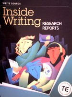 Inside Writing 9 Research Reports TE (TE)(P) by Kemper,