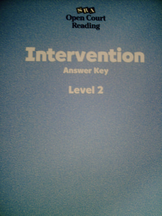 SRA Open Court Reading 2 Intervention Answer Key (P)